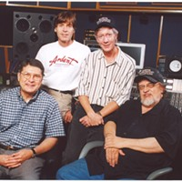 John Fry, Jody Stephens, John Hampton, and Jim Dickinson