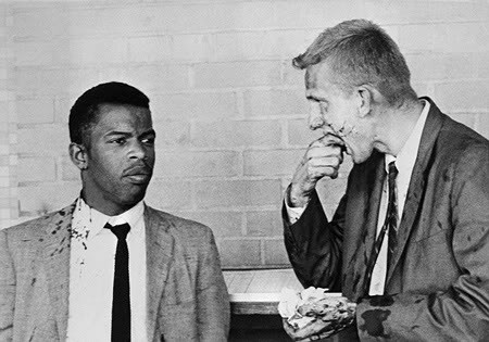 John Lewis and Jim Zwerg: Portrait of heroism in Freedom Riders.