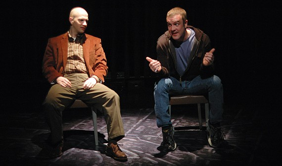 John Maness and John Moore are the two cops in the two-character drama A Steady Rain.
