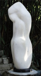 "PHOTO BY TOMMY WILSON - John McIntire's marble sculpture Misty will be part of ""A Tactile Experience."""