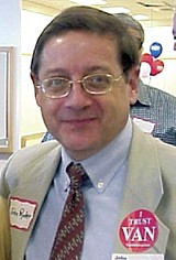 JACKSON BAKER - John Ryder in file photo (note ironic lapel sticker).