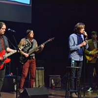 Memphis Music Hall of Fame: 2014 Jon Auer, Ken Stingfellow, Jody Stephens, and Drew Hummel performing after Big Star's induction. Patrick Lantrip