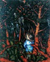 Jonathan Green, Seeking, 2006, oil on masonite, collection of Mepkin Abbey, Clare Booth Luce Library, Moncks Corner, South Carolina
