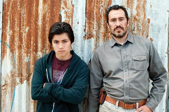 José Julián and Demián Bichir in A Better Life