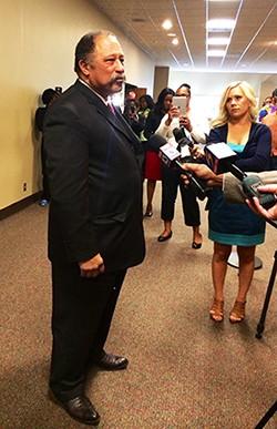 Judge Joe Brown after Fridays hearing
