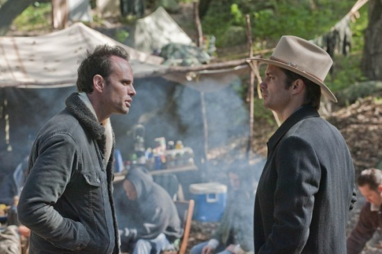 Justifieds Walton Goggins and Timothy Olyphant