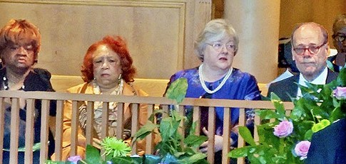 Kahryn Bowers, second from left, mourned the passing in 2013 of Minerva Johnican. - JB
