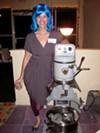 Kat Gordon with the Underground Bakery's vintage mixer