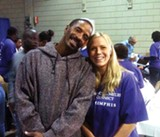 LOUIS GOGGANS - Keith Banks with volunteer Annberly - Chiarella