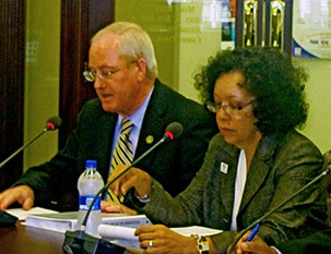 Kennedy and Madlock at Wednesdays committee meeting
