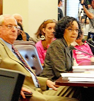 Kennedy and Madlock during recent Title X hearing