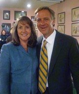JB - Knoxville mayor Bill Haslam, accompanied by his wife Chrissy, a Memphis native, touched base Wednesday on the first stage of his run for governor.
