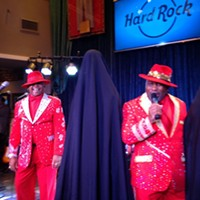Hard Rock's New Digs Larry Dodson and James Alexander of the Bar-Kays are the best at unveiling suits. There is no competition. Don't even try. Joe Boone