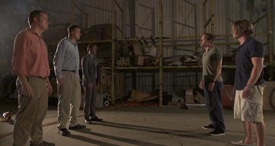 (left to right) Drew Smith, Allen C. Gardner, Matt Mercer, Matthew Gilliam, and Nathan Ross Murphy in Bad, Bad Men