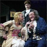 Left to right: Megan Stein as Martha Jefferson; Michael Detroit as John Adams; and Dave Landis as Ben Franklin