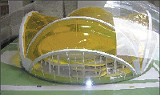 Liberty Bowl architect's dome model.
