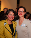Library Director Keenon McCloy (right) with Memphis magazine's own Joy Bateman at a June event.