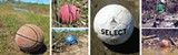 Littering the Nonconnah: basketballs, soccer balls, and footballs — enough balls to stock a sporting-goods store - GARY BRIDGMAN