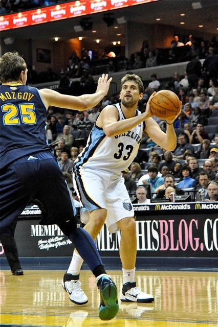 Marc Gasol leads the Grizzlies against the Denver Nuggets tonight.