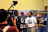 Marcus Matthews on the set of his - documentary, I Am Not the Father