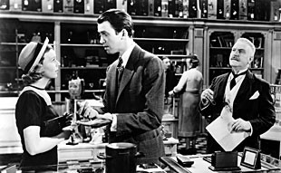 Margaret Sullavan, Jimmy Stewart, and Frank Morgan in the neglected masterpiece  The Shop Around the Corner .