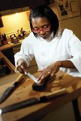 JUSTIN FOX BURKS - Marisa Baggett, sushi chef at Tsunami