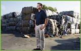 Mark Huber, owner of Recycle Solutions, helps local companies save money and reduce landfill waste. - BY JUSTIN FOX BURKS