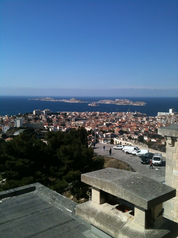 Marseille, view from Notre Dame du le Garde