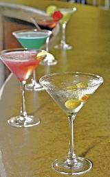 Martinis at Swig - JUSTIN FOX BURKS