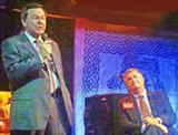 JB - Mattila (left) and Butler at Monday night's debate
