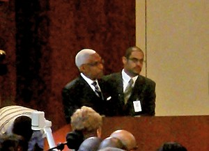 Mayor Wharton, Council Chairman Ford at budget meeting