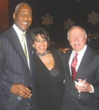 Mayor Willie Herenton had his annual Christmas party at the Cannon Center. Here, with Paula Jett and Kyle Rice.