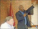 JACKSON BAKER - Mayoral candidates John Willingham and Herman Morris