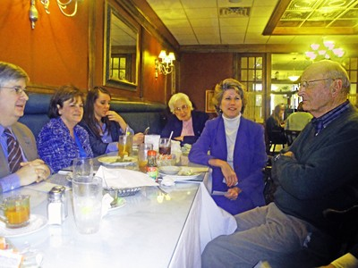 McMillan (second from right) with Democrats in Collierville