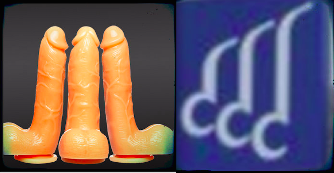 L to R: Dildos, Detail from the new Memphis welcome sign.