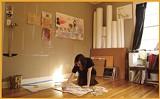 Melanie Spillman at work in her studio - BY JUSTIN FOX BURKS
