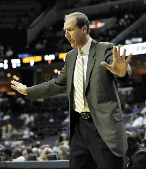 Memphis Grizzlies coach Marc Iavaroni - BY LARRY KUZNIEWSKI