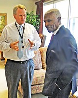 Memphis mayor A C Wharton conferring with acting CAO Jack Sammons in City Hall last week - JB