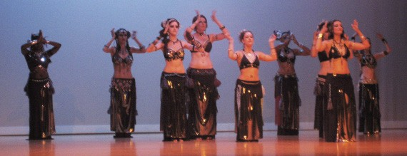 Memphis Raq belly dancers perform their opening act for an audience in Bartlett.