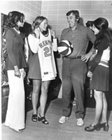 Memphis Tams Coach Bill van Breda Koff can't believe the color scheme his team had to wear.