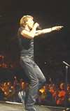 Mick Jagger struts his stuff.
