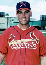 Mike Coolbaugh in spring training of 2002, his Redbird year