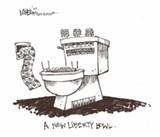 Mike Niblock's weekly cartoon.