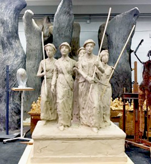 Model of the proposed suffragist monument