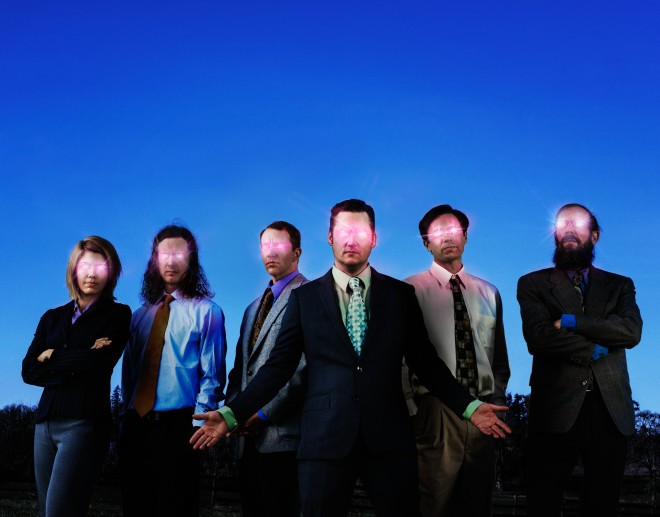 Modest Mouse plays a sold out show tonight at Minglewood Hall. - BEN MOON