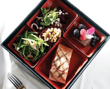 Napa's bento box and Chef Rick Saviori