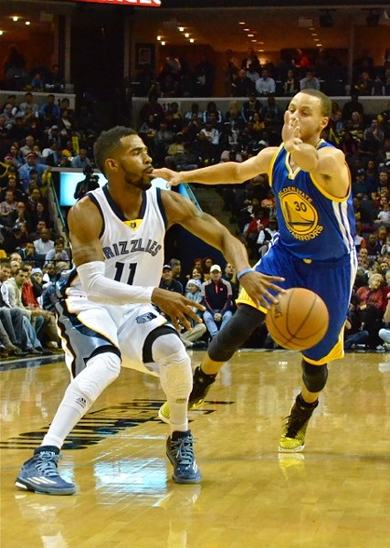 Mike Conley struggled in the early going last night, but came through in the clutch. - LARRY KUZNIEWSKI