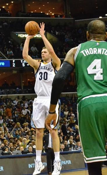 Jon Leuer got his game going in a big way against the Celtics last night. - LARRY KUZNIEWSKI