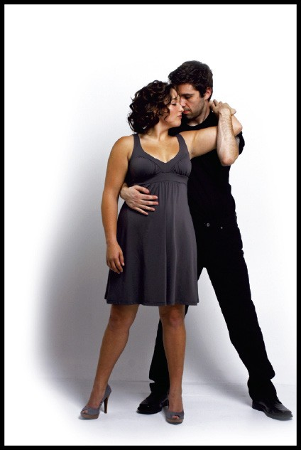 Nobody puts Baby in a corner: - On her: Susana Monaco grey dress, $158, from Indigo. - On him: Black Hiltl jeans, $175, Tricots St. Raphael black tee, $48, both from Lansky 126. - BY JUSTIN FOX BURKS
