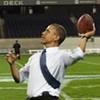 Obama Drops Back, Spots His Receiver ...